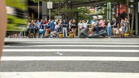 4K Timelapsed人群行人交叉路繁忙的交叉点街道台北市 股票录像