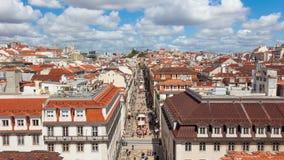 4K timelpase of Augusta street near commerce square in Lisbon , Portugal - UHD. 4K timelpase of Augusta street near commerce square in Lisbon , Portugal UHD stock video