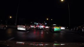 4K Traffic jam driving rush hour in city stock video footage