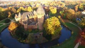 4k trutnia powietrzny wideo grodowy Linn w Krefeld, Niemcy zbiory