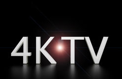 4K TV Fotografia Stock