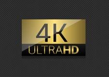 4k TV-het scherm Royalty-vrije Illustratie
