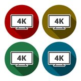 4k tv Icon. Simple vector icon royalty free illustration