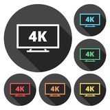 4k tv Icon. Simple vector icon stock illustration