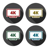 4k tv Icon. Vector icon, simple stock illustration