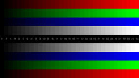 8K 7680x4320 TV RGB gradient television test pattern to adjust the screen, tint 0-255.  Royalty Free Stock Photography