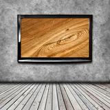 4K TV on the wall isolated Royalty Free Stock Photos