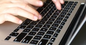 4k Typing On A Laptop Keyboard,computer Literate Operator. Gh2_08213_4k stock footage