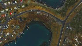4K UHD路在冰岛 在路的汽车 股票录像