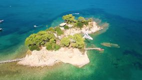 4K UHD Aerial view of Cameo Island in Zakynthos Zante island in Greece. 4K UHD  Aerial view of Cameo Island in Zakynthos Zante island, in Greece stock footage