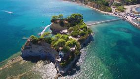 4K UHD Aerial view of Cameo Island in Zakynthos Zante island in Greece. 4K UHD  Aerial view of Cameo Island in Zakynthos Zante island, in Greece stock video footage