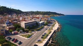 4K UHD Aerial  view of Zakynthos city in  Zante island, in Greece. 4K UHD Aerial  view of Zakynthos city in  Zante island in Greece stock footage