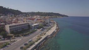 4K UHD Aerial  view of Zakynthos city in  Zante island, in Greece - log stock video