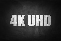 4K UHD concept on blackboard Royalty Free Stock Image
