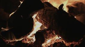 4K UHD graby ogień i Notuje dalej kuchenkę zbiory wideo