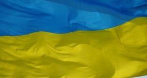 4k Ukraine flag is fluttering in wind. Gh2_11171_4k stock video