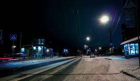 4K Ultra HD city street night view time lapse stock footage