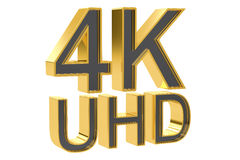 4K Ultra HD concept, 3D rendering Stock Images