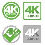 4K ultra hd flat symbol set. Design illustration image graphic vector illustration