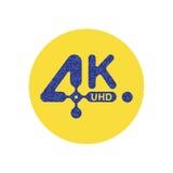 4K Ultra HD  icon. Flat  illustration EPS10 Stock Images
