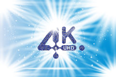 4K Ultra HD  icon. Vector illustration EPS10 Royalty Free Stock Photography