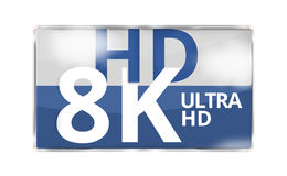 8K Ultra HD modern badge icon symbol 3D render Stock Image