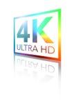 4K Ultra HD Perspective Shiny Color Logo. 4K Ultra HD Perspective Shiny Flat Color Logo Stock Images