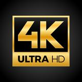 4K Ultra HD symbol. High definition 4K resolution mark, UHD - 2160p Royalty Free Stock Photo