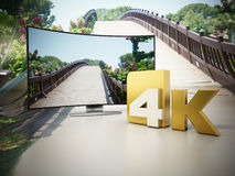 4K Ultra HD television. 3D illustration Royalty Free Stock Image
