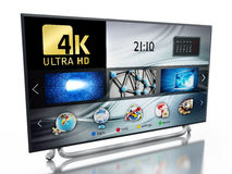 4K ULTRA HD television. 3D illustration Stock Photos