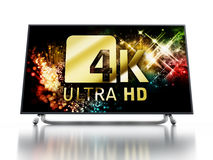 4K ULTRA HD television. 3D illustration Royalty Free Stock Images