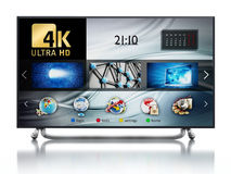 4K ULTRA HD television. 3D illustration Stock Images