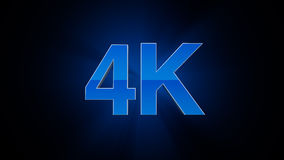 4K Ultra HD. TV 3D logo Royalty Free Stock Photography