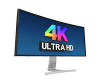 4K Ultra HD Wide Monitor Royalty Free Stock Photography