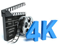 4K ultra high definition television technology Royalty Free Stock Photography