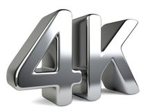 4K ultra high definition television technology symbol. Stock Photography