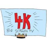 4k ultra Hoge TV van het Definitie Grote Scherm Stock Foto's