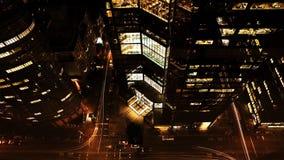 4K UltraHD交通夜视图在纽约摩天大楼中的 股票视频