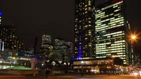 4K UltraHD多伦多,加拿大Timelapse ` s街市核心在晚上 股票视频