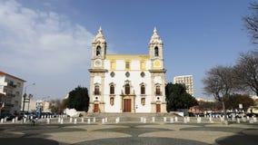 4K UltraHD大教堂Timelapse在老镇在法鲁,葡萄牙 股票录像