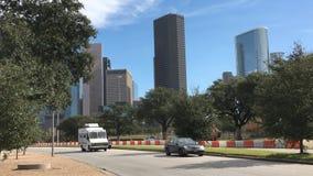 4K UltraHD ορίζοντας του Χιούστον, Τέξας μια ηλιόλουστη ημέρα απόθεμα βίντεο