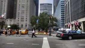 4K UltraHD A拥挤的街场面在曼哈顿 影视素材