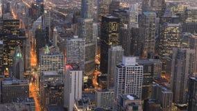 4K UltraHD Aerial timelapse of the Chicago, Illinois city center stock video