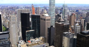 4K UltraHD Aerial view of the Midtown New York area. 4K UltraHD An aerial view of Midtown New York stock video footage
