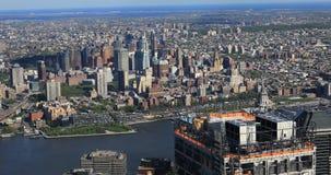 4K UltraHD Aerial view towards Brooklyn, New York. 4K UltraHD An aerial view towards Brooklyn, New York stock footage