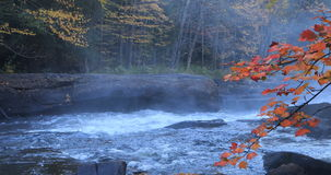4K UltraHD Algonquin river rapids in beautiful fall colors