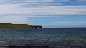 4K UltraHD Bay of Skaiil and the Hole of Roe, Orkney stock video footage