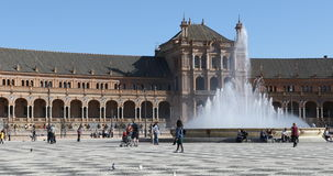 4K UltraHD Beautiful Plaza de Espana in Seville. Built in 1929 to host the Ibero-American Exposition of 1929 stock video