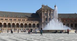 4K UltraHD Beautiful Plaza de Espana in Seville stock video