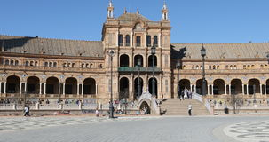 4K UltraHD Beautiful Plaza de Espana in Seville, Spain stock footage
